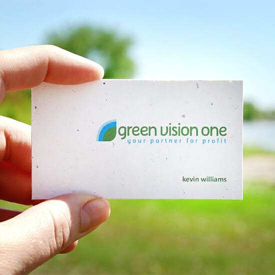 Plantable Seed Paper Business Cards