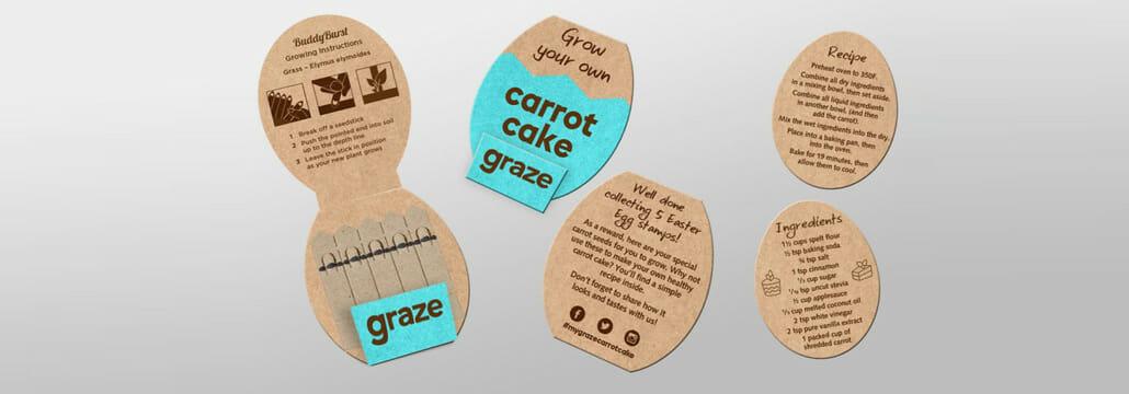 Graze - Grow your own carrot cake - promotional seedsticks
