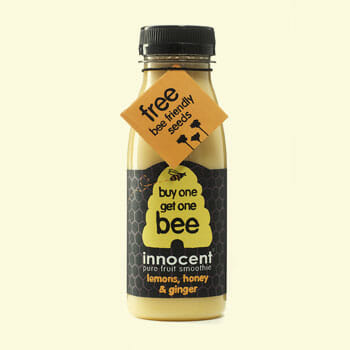 Custom-Printed Seed Packets - Innocent on-bottle promotion