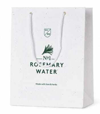 Seed Paper Carrier Bag - No 1 Rosemary Water