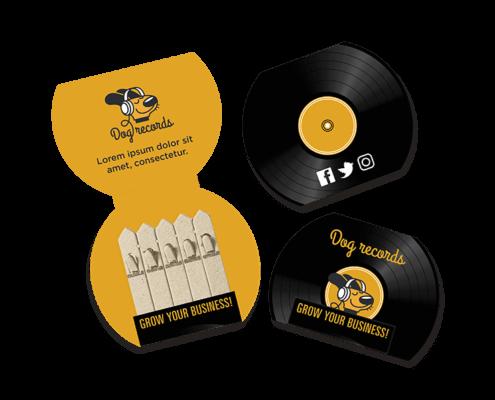 Vinyl Record Seedstick Shapes