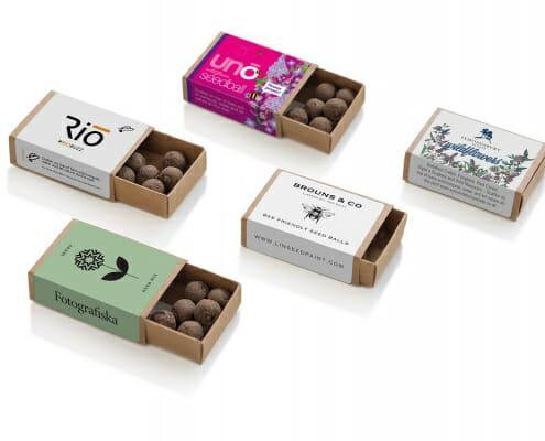 Custom Printed Seedball Matchbox