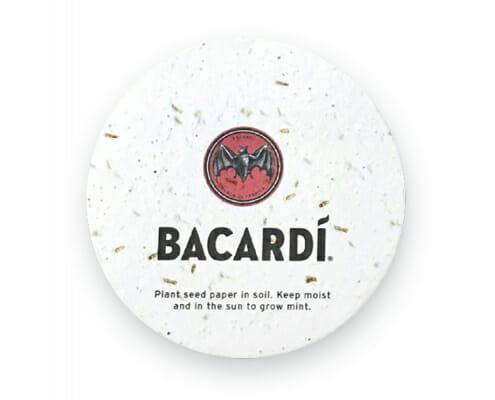 Seed Paper Coaster - Barcadi