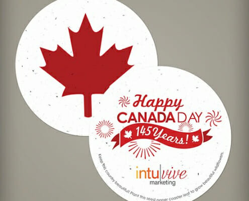 Seed Paper Coaster - Happy Canada Day