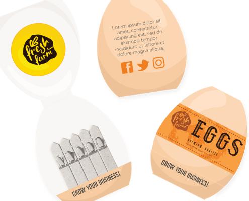 Egg - Cookery Seedstick Shapes