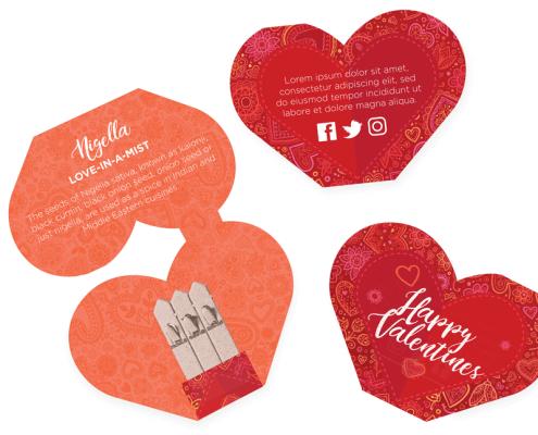 Heart - Valentines Day Seedstick Shapes