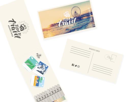 Travel & Tourism - Postcard Seedstick Shapes