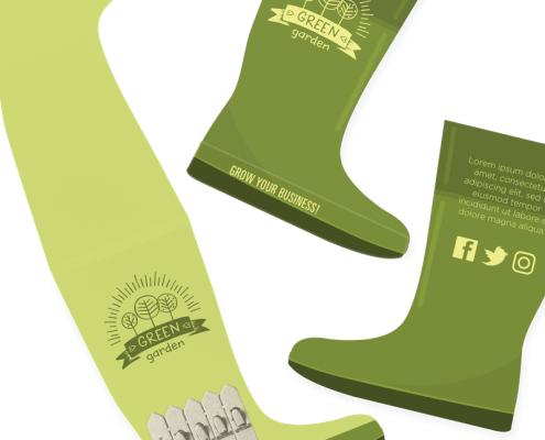 Gardening - Wellington Boots Seedstick Shapes