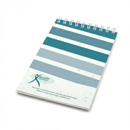 Eco-Friendly Custom Notepad with Seed Paper Cover