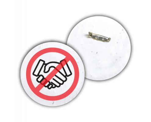 Plantable Social Distancing Badge - No Shaking Hands