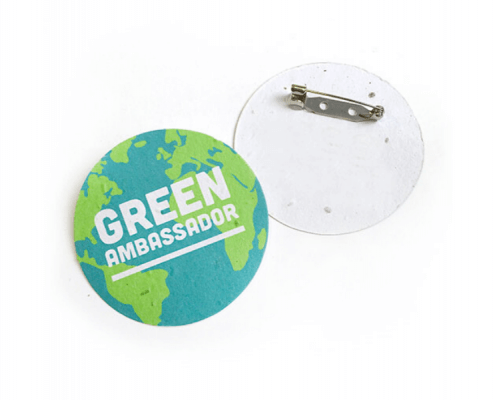 Biodegradable Button Badges made from Seed Paper