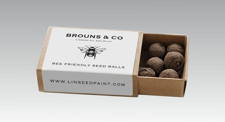 Seedball Matchbox - Save the Bees Marketing Message